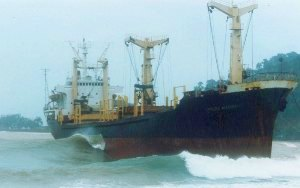 Cargo Vessel Grounding  Great Barrier Reef, Australia